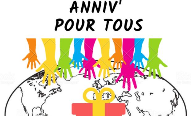 Visuel du projet Anniv' pour tous, afin que chaque anniversaire dans le monde soit une fête !
