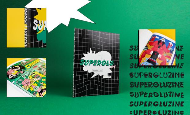 Visuel du projet SUPERGLUZINE, le média consacré à la collaboration entre artistes !