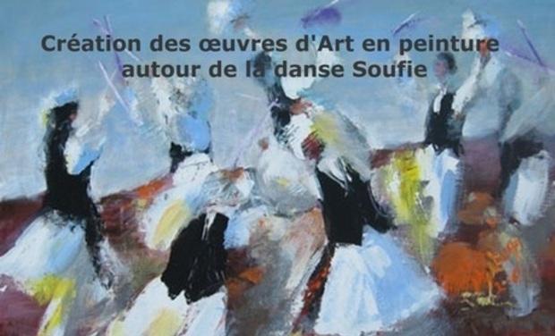 Visuel du projet Création des œuvres d'Art en peinture autour de la danse Soufie