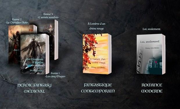 Image du projet Remy Lecornec, auteur de romans fantastiques & romance moderne