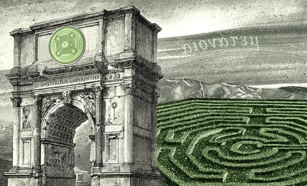 Project visual Le Mystérieux Labyrinthe - Jeu de cartes et de divination