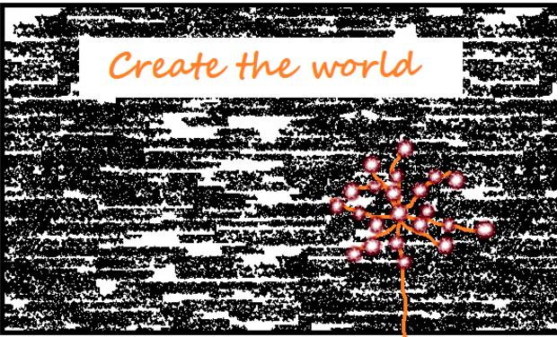 """Visuel du projet Marionnettes """"Create the world"""""""
