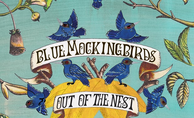 Visueel van project Blue Mockingbirds first album: Out of the Nest
