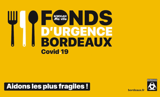 Project visual Fonds d'urgence COVID Bordeaux