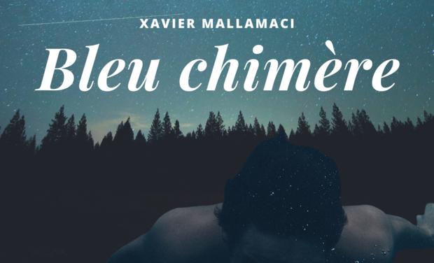 "Visueel van project ""Bleu chimère"", lancement premier roman, Xavier Mallamaci"