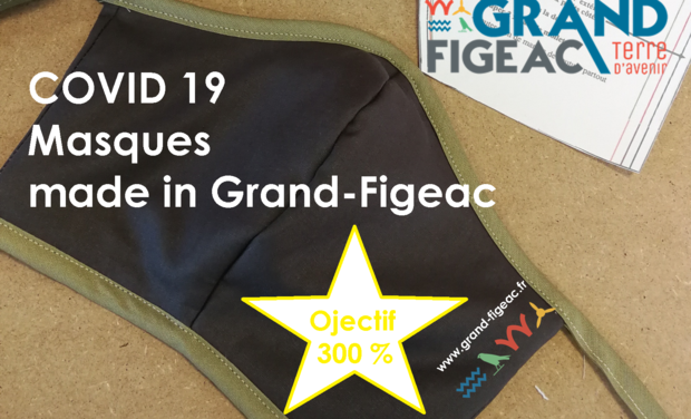 Project image Fabrication de masques lavables Made in Grand-Figeac