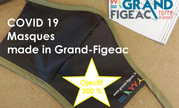 Visuel du projet Fabrication de masques lavables Made in Grand-Figeac