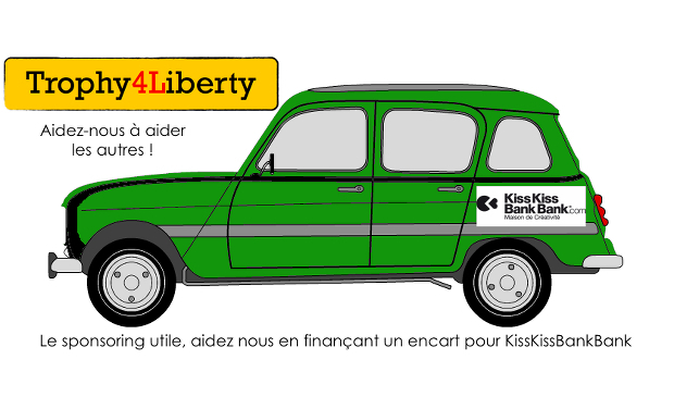 Visueel van project 4L Trophy - Nous aider tout en finançant un encart publicitaire pour KissKissBankBank