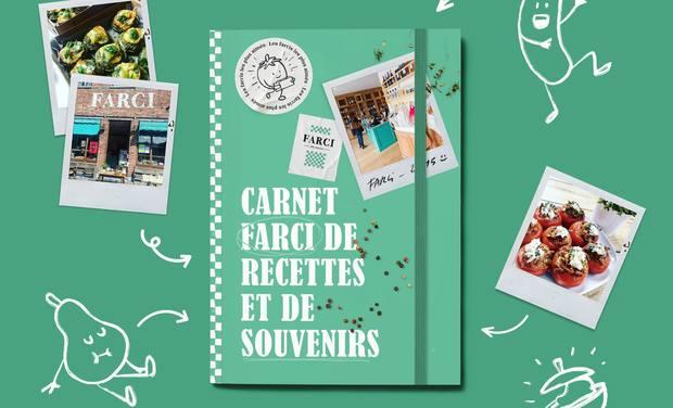 Project visual Carnet farci de recettes