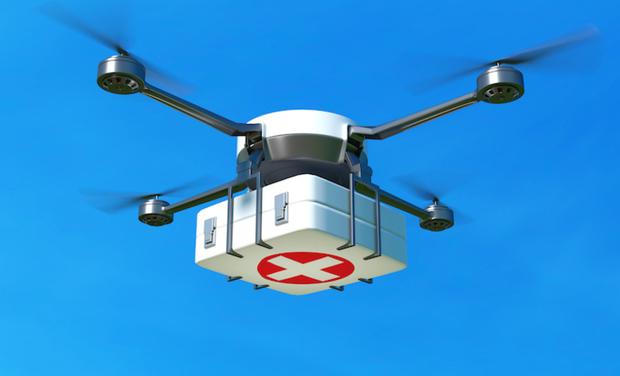 Visueel van project WOTE Permet à la population rurale isolée à accéder à la santé avec les drones