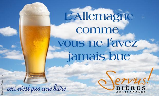Visuel du projet Bières artisanales Servus - L'Allemagne comme vous ne l'avez jamais bue !