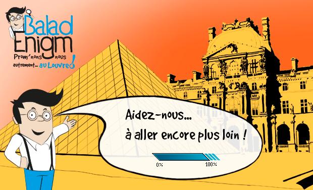 Visuel du projet BaladEnigm : prom'nons-nous autrement au Louvre !