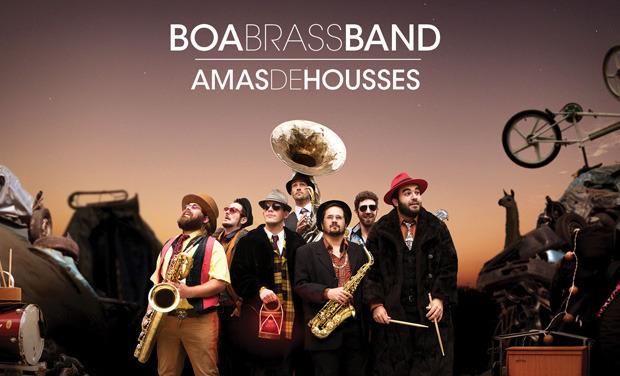 """Visuel du projet Boa Brass Band, nouvel album """"Amas de Housses"""""""