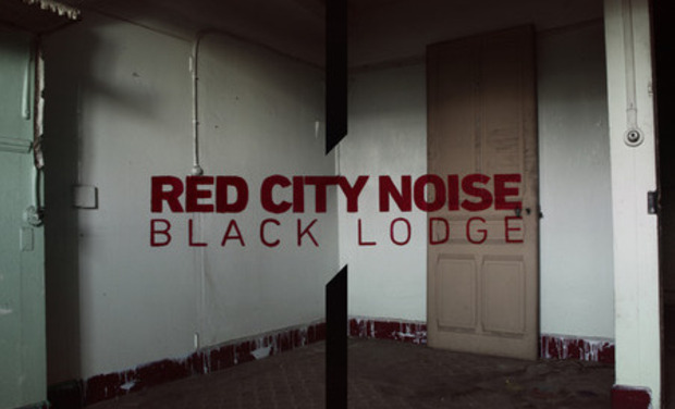 "Visueel van project ""BLACK LODGE"" pressage vinyl du 1er album de RED CITY NOISE"