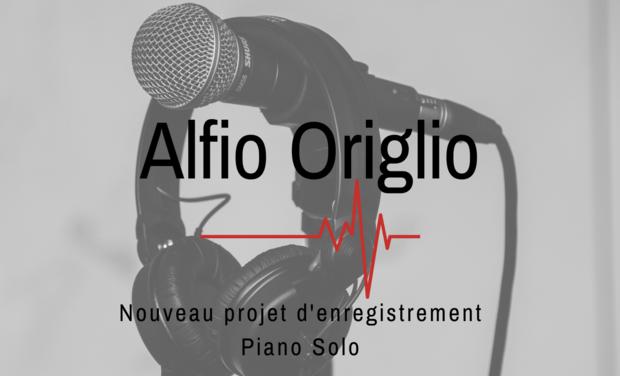 Visuel du projet Alfio Origlio. Piano Solo