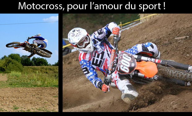 Project visual Motocross pour l'amour du sport