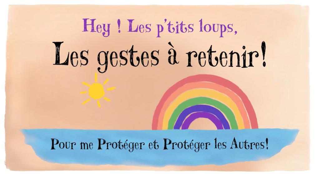 Image du projet Les gestes barrières expliqués à nos P'tits Loulous