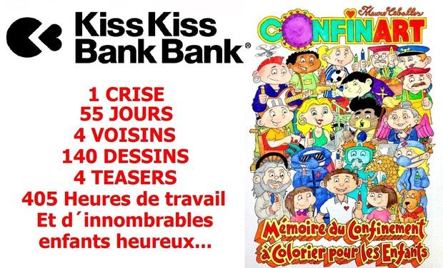 """Visuel du projet CONFINART """"Mémoire du Confinement à Colorier pour les enfants"""""""