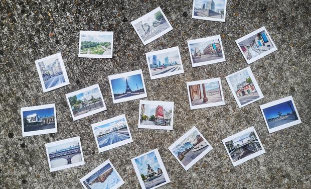 Visuel du projet Paris confiné en 20 photos dans boîte cartonnée artisanale