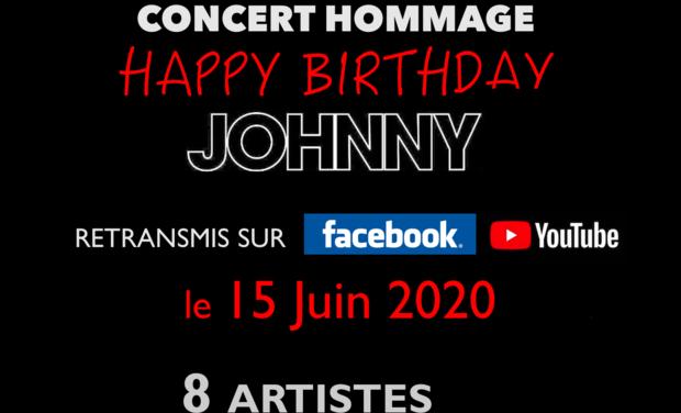 "Visuel du projet Concert Hommage ""Happy Birthday Johnny"" - Sans public -"