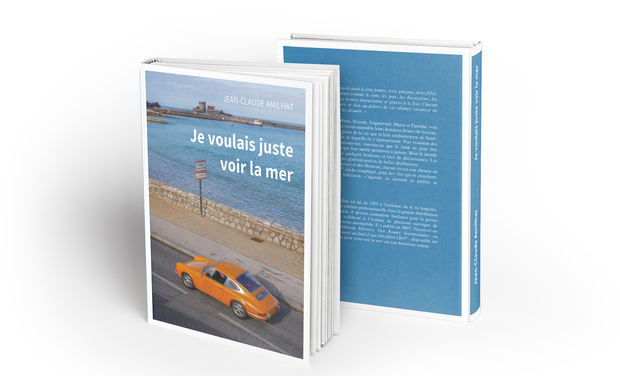 """Visuel du projet Le deuxième roman """"Je voulais juste voir la mer"""" de JC AMILHAT"""