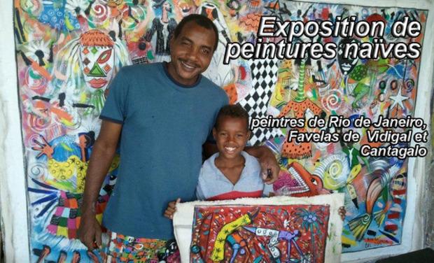 Visuel du projet Exposition de peintures naïves // Peintres de Rio de Janeiro, Favelas de Vidigal et Cantagalo