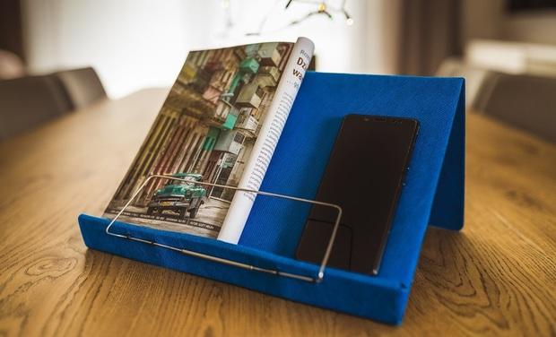 Project visual The bookrest 4text: an ultra-lightweight book stand