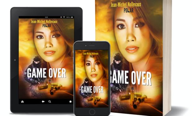 Visuel du projet Game Over, mon premier roman.