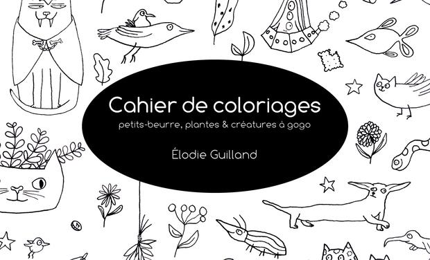 Project visual Cahier de coloriages, petits-beurre, plantes et créatures à gogo