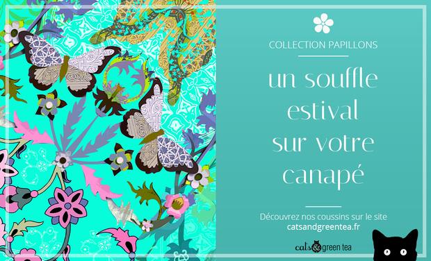 Visuel du projet cats&green tea - Une nouvelle collection de coussins!