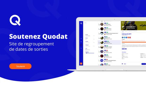 Visuel du projet Quodat, site de regroupement de dates de sorties