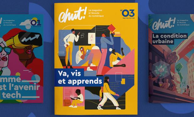 Visuel du projet Chut ! le magazine du numérique au format papier