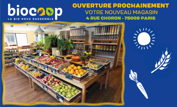 Project visual Un Triporteur pour Votre Magasin BIOCOOP 4 rue Choron Paris 9