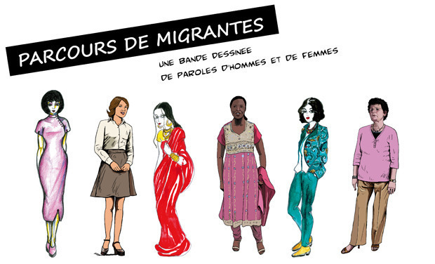 Visuel du projet Parcours de Migrantes - La BD