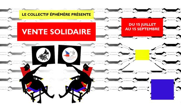 Visuel du projet Le Collectif Éphémère œuvre en faveur du Secours Populaire !