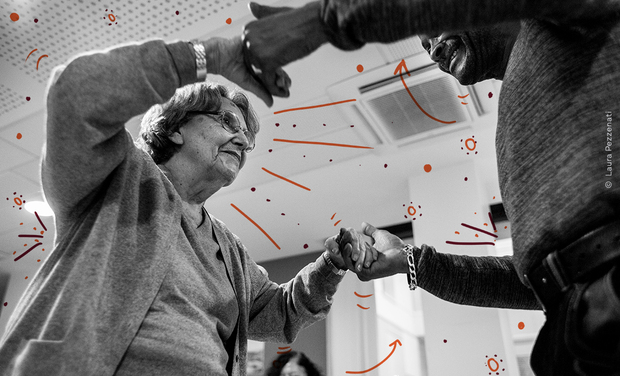 Project visual ONLINE TANGO FOR THE ELDERLY?