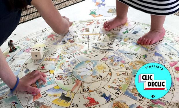 Project visual Le jeu de l'oie vintage géant