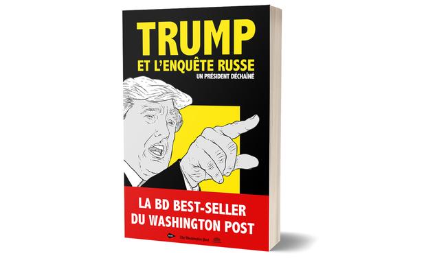 """Visuel du projet """"Trump et l'enquête russe - un président déchaîné"""", la BD du Washington Post"""