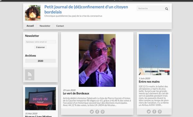 """Image du projet Publier le livre du blog """"Petit journal de confinement d'un citoyen bordelais"""""""