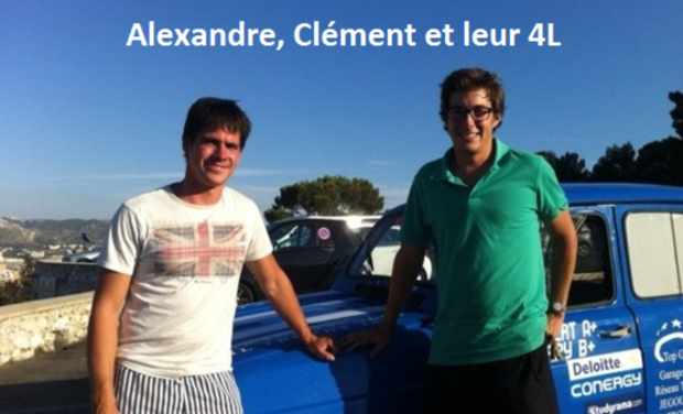 Project visual Alexandre, Clément et leur 4L