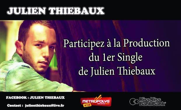 Visuel du projet 1er Single de Julien Thiebaux.