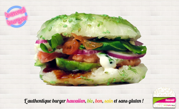 Visuel du projet Bawaii - Fresh hawaiian burger