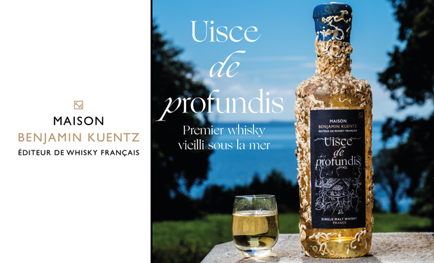 Project visual Uisce de profundis : 1st whisky aged in the ocean's depths