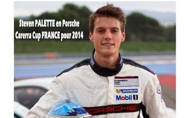 Visuel du projet Steven PALETTE en PORSCHE CARRERA Cup France  pour 2014