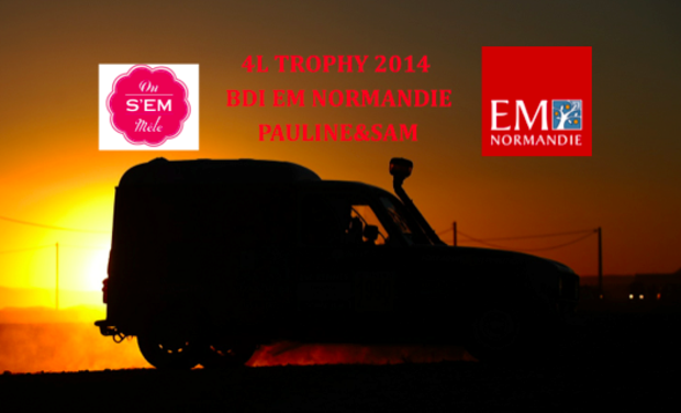 Visueel van project 4L Trophy 2014 BDI EM Normandie Pauline&Sam