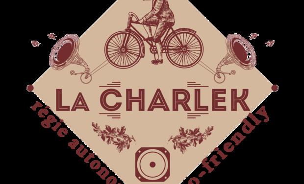 Project visual La Charlek, régie avec sound system éco, vélos générateurs et panneau solaire
