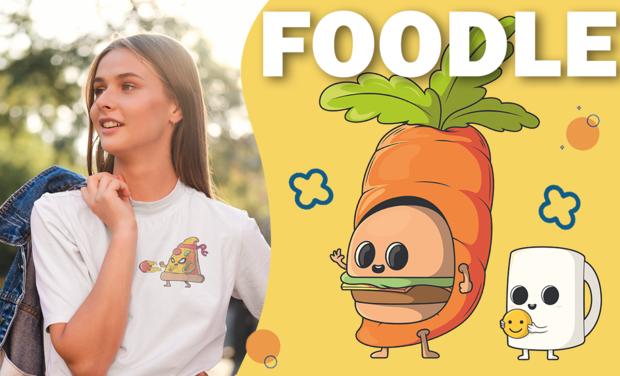 Project visual Foodle - T-shirts fabriqués en France