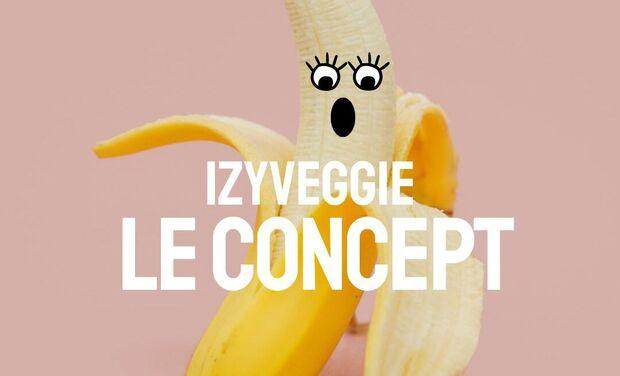 Project visual Izyveggie : la box hebdomadaire 100% végane qui vous simplifie la vie !