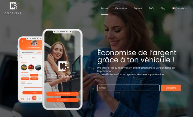 Project visual CodeNekt, l'application responsable pour la gestion des données de ta voiture