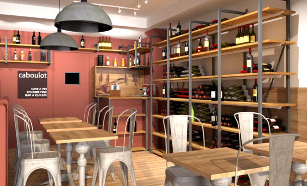 Visuel du projet Caboulot Courbevoie : vins nature et produits du terroir éco-responsables